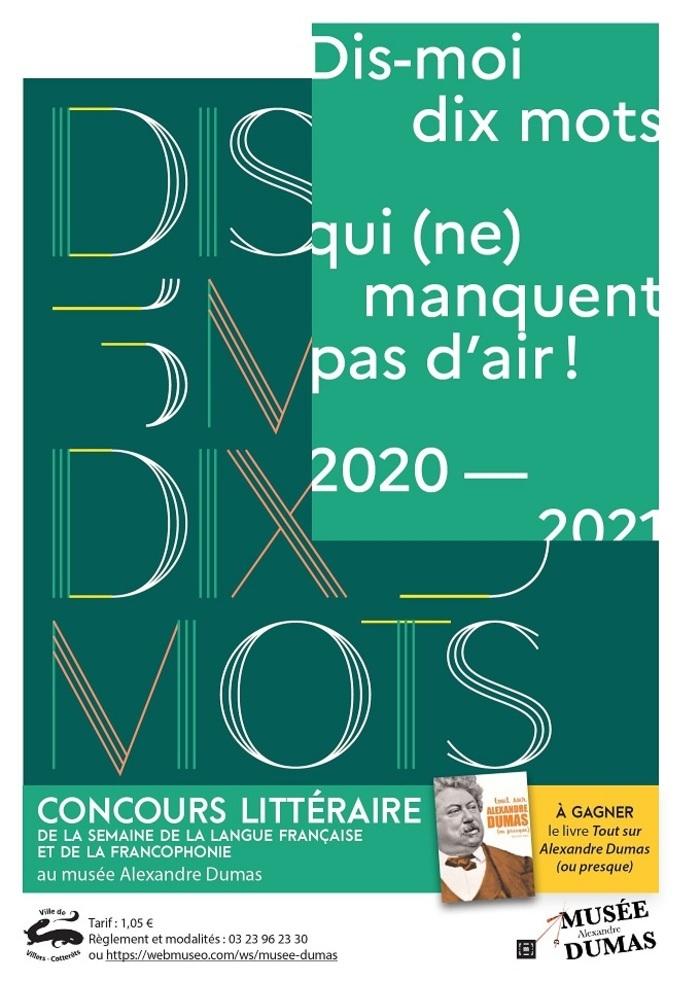 concours littéraire jusqu'au 5 mars 2021