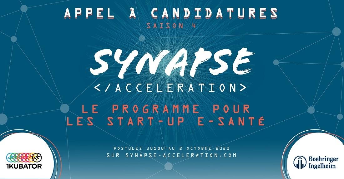 Appel à projets saison 4: Synapse Accélération le programme de Boehringer Ingelheim pour les startups esanté et industrie 4.0