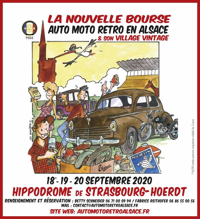 Journées du patrimoine 2020 - Collection de véhicules rétros d'Alsace à l'hippodrome de Strasbourg avec la FFVE