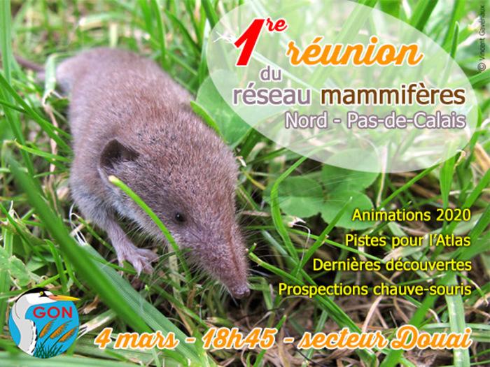 1re réunion du réseau mammifères NPdC