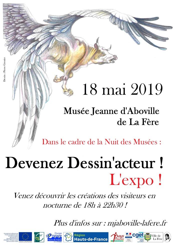 Nuit des musées 2019 -Exposition des dessins du Concours
