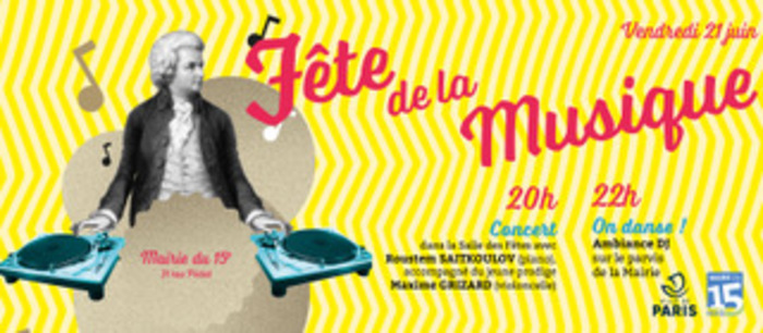 Fête de la musique 2019 - De Schubert à la piste de danse : toutes les musiques en fête à la Mairie du 15e