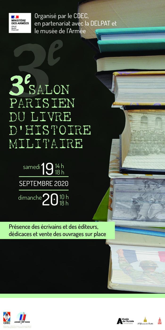 Journées du patrimoine 2020 - Troisième salon parisien du livre d'histoire militaire