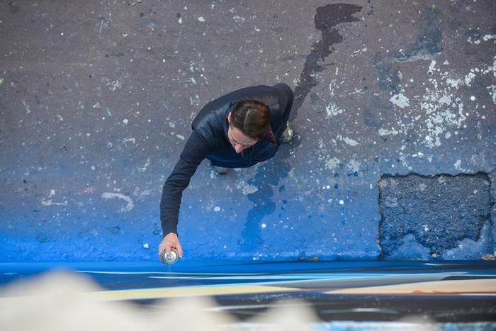 Journées du patrimoine 2019 - Performance de street art en live par l'artiste Valer