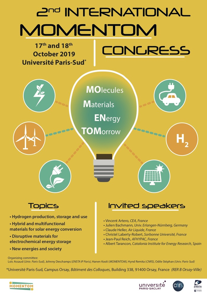2nd International Molecules and Materials for the Energy of Tomorrow (MOMENTOM) Congress