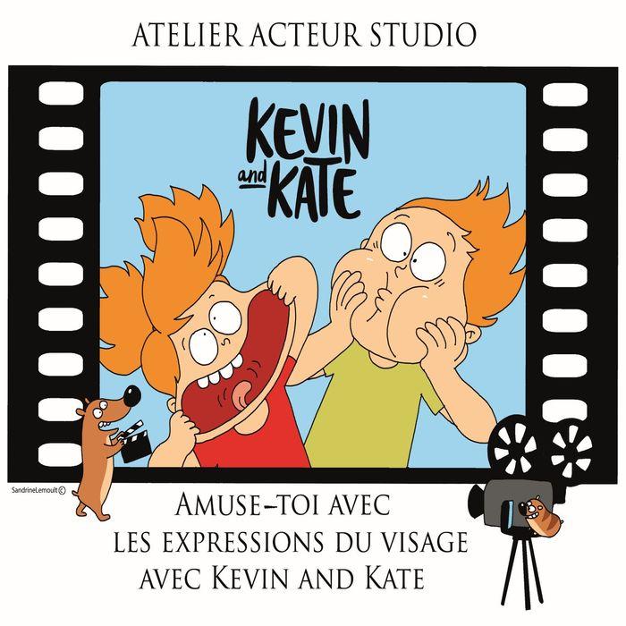 Partir en livre 2020 - Amuse-toi avec les expressions du visage avec Kevin and Kate ! Atelier BD en ligne