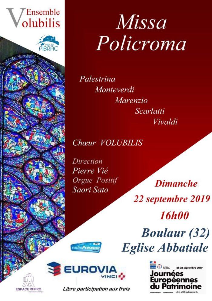 Journées du patrimoine 2019 - Concert de l'ensemble vocal Volubilis