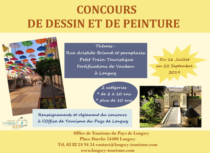 Journées du patrimoine 2019 - Concours de peinture et de dessin à Longwy Haut