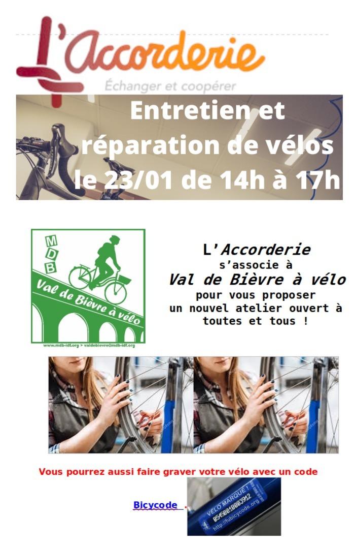 Entretien, réparation et gravage vélos