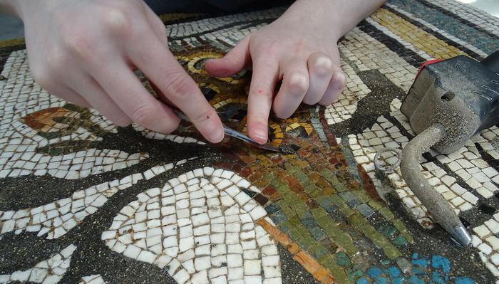 Journées du patrimoine 2020 - Visites exceptionnelles de l'atelier de restauration de mosaïques et d'enduits peints (ARM)