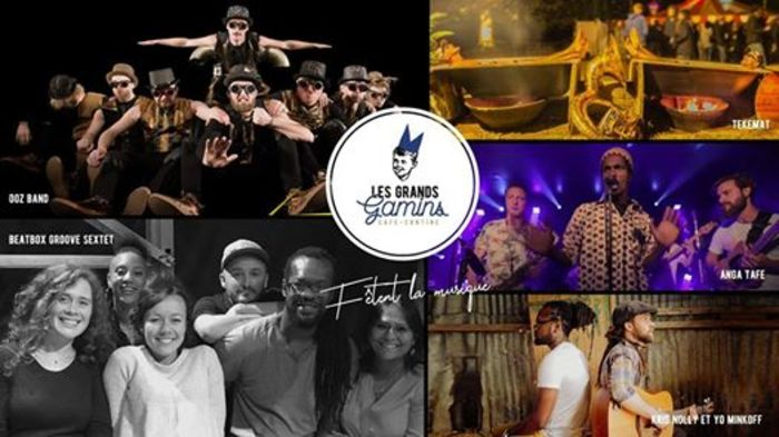 Fête de la musique 2019 - Duo Yoann Minkoff et Kris Nolly // Gospel du collectif Beatbox Groove Sextet // Anga Tafè // OOZ BAND