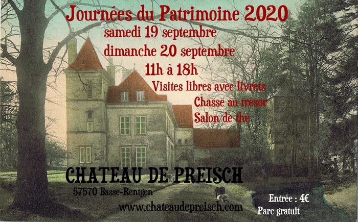Journées du patrimoine 2020 - Journées Européennes du Patrimoine au château de Preisch