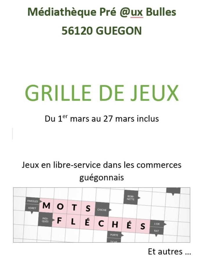 Différents jeux écrits sur la langue française (expressions etc) à remplir et à ramener en médiathèque pour correction