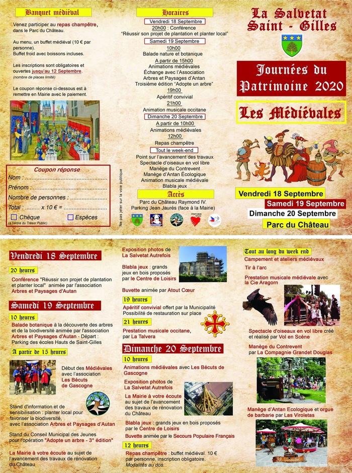 Journées du patrimoine 2020 - Les Médiévales