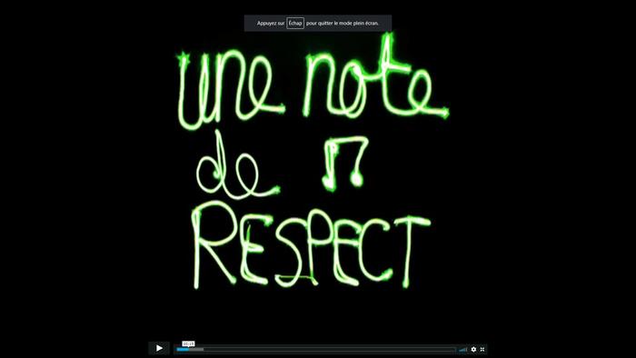 Une note de respect