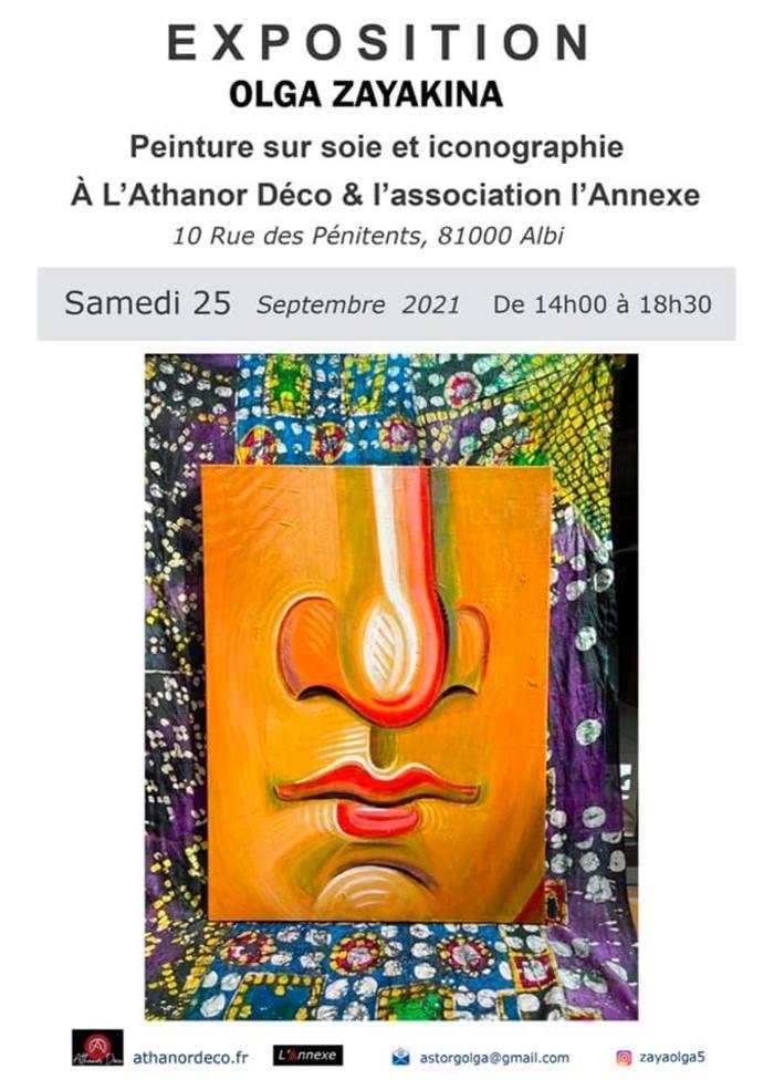 Exposition des oeuvres de l'artiste proposée par l'association l'Annexe.