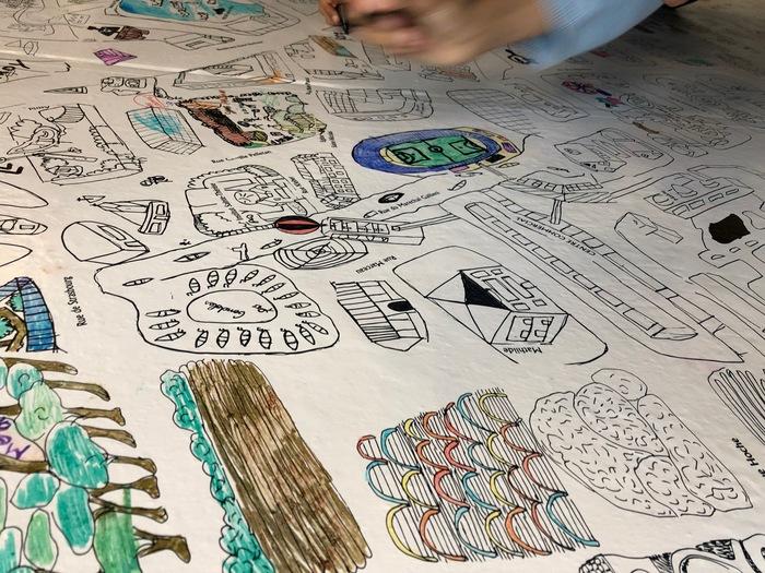 Journées du patrimoine 2019 - Coloriage géant