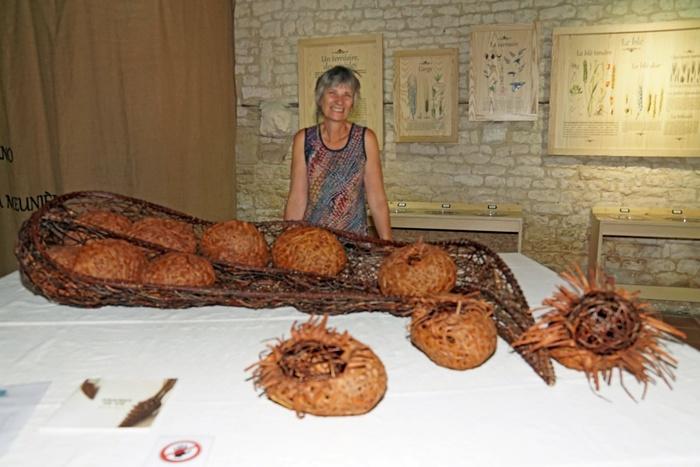 Journées du patrimoine 2020 - GRAINES DE VIE, oeuvres Myriam ROUX à la Maison de la Meunerie