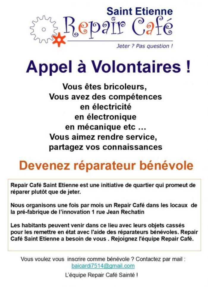 Repair Café Saint-Étienne, tous les seconds samedis de chaque mois