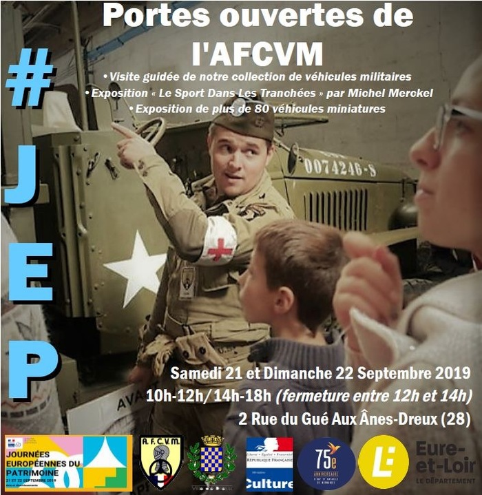 Journées du patrimoine 2019 - Porte Ouvertes de l'AFCVM-Visite Guidées et Expositions