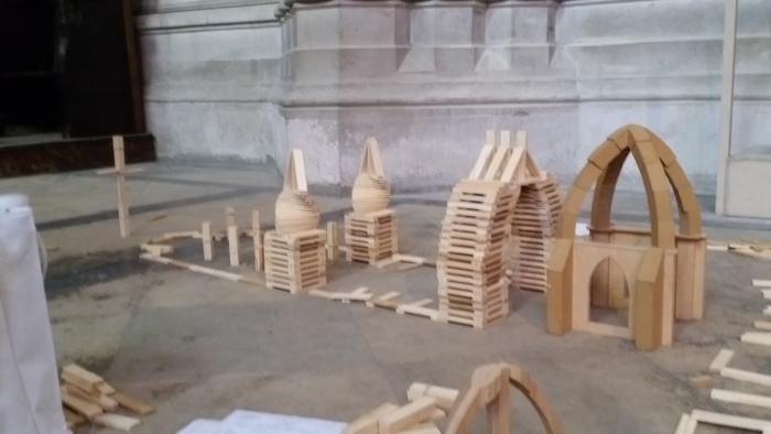 Journées du patrimoine 2019 - Atelier pour enfants de kaplas et de modèles en bois