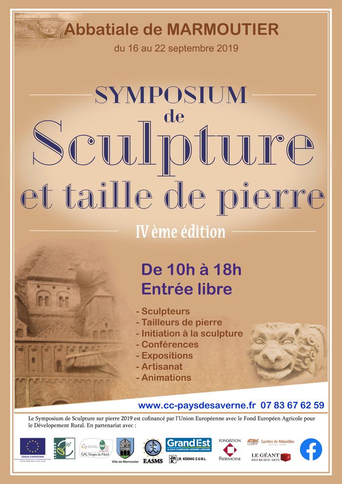 Journées du patrimoine 2019 - 4e édition du Symposium de sculpture et taille de pierre