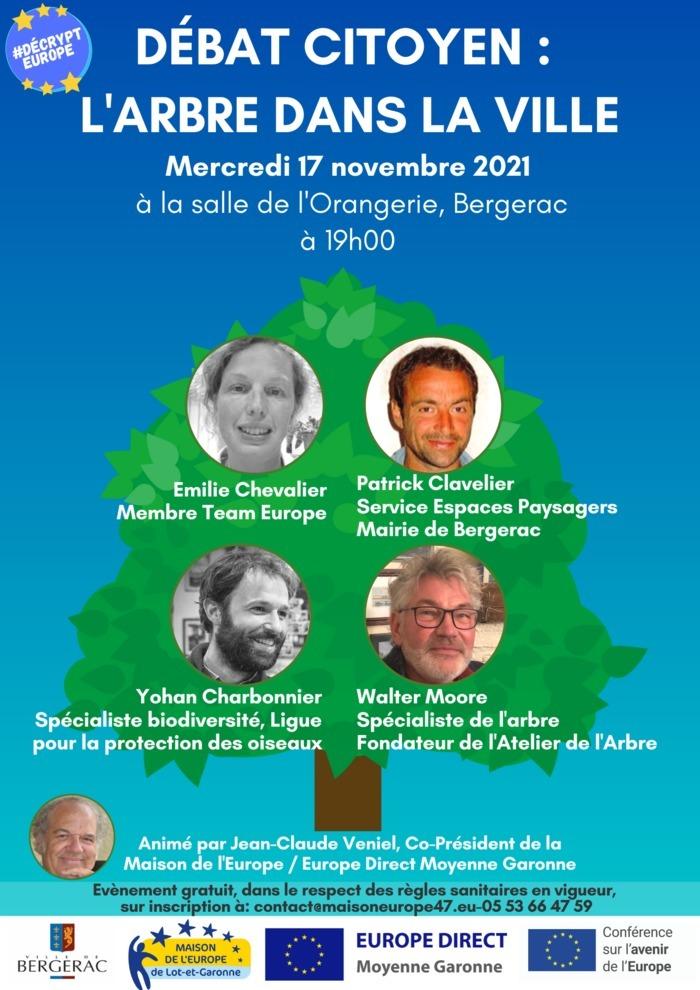 Conférence sur les thèmes de l'arbre, du développement durable et de la biodiversité