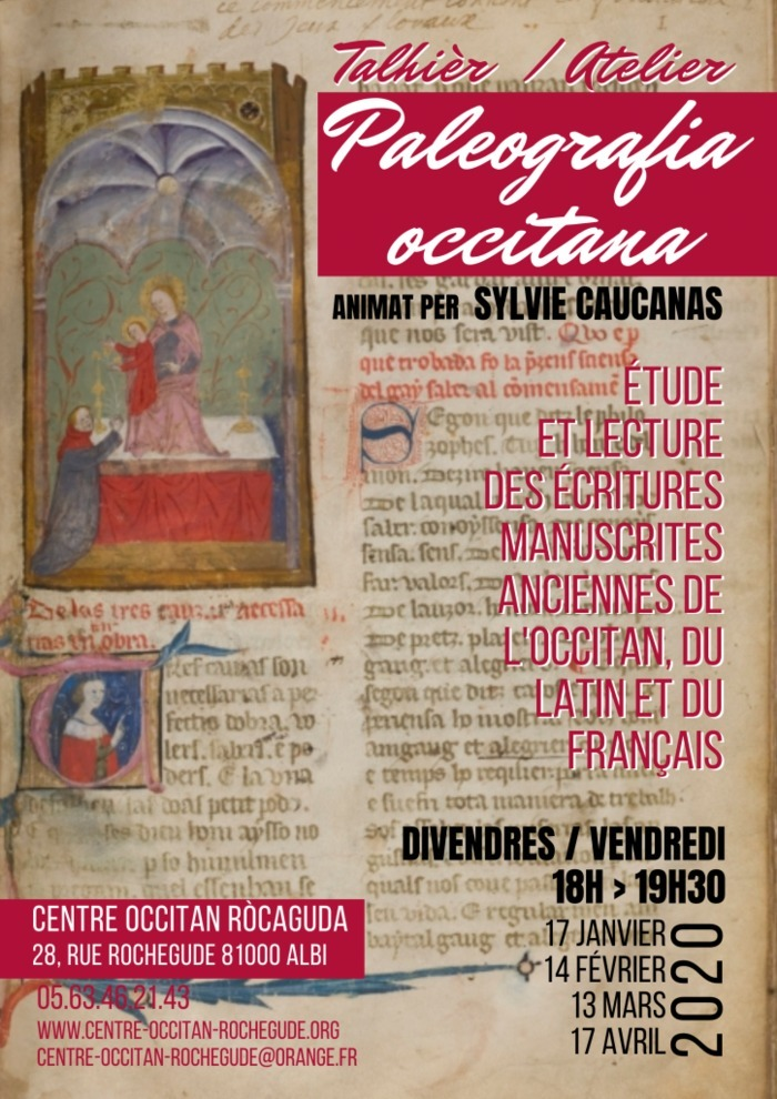 Atelier de paléographie occitane animé par Sylvie Caucanas