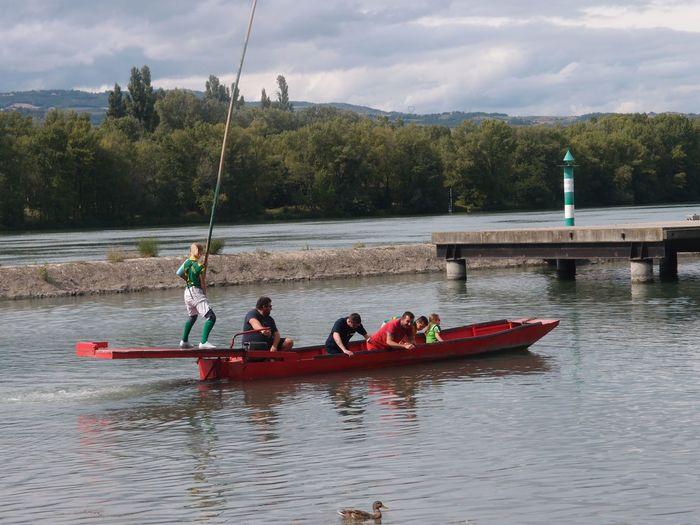 Journées du patrimoine 2019 - Démonstration de joutes sur le Rhône