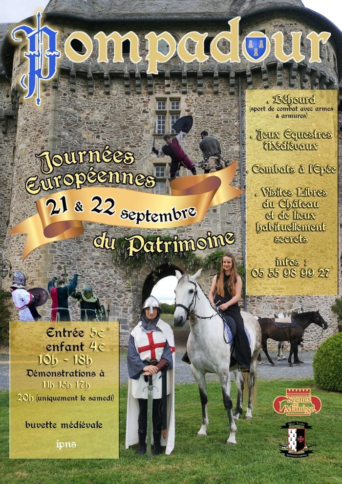 Journées du patrimoine 2019 - Visite du château de Pompadour et démonstrations médiévales