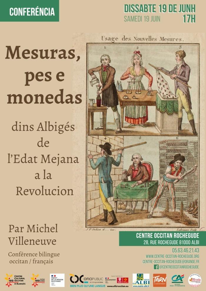 """Conférence 'Mesuras, pes e monedas, dans l'Albigeois, du Moyen-Âge à la Révolution"""" par Michel Villeneuve"""