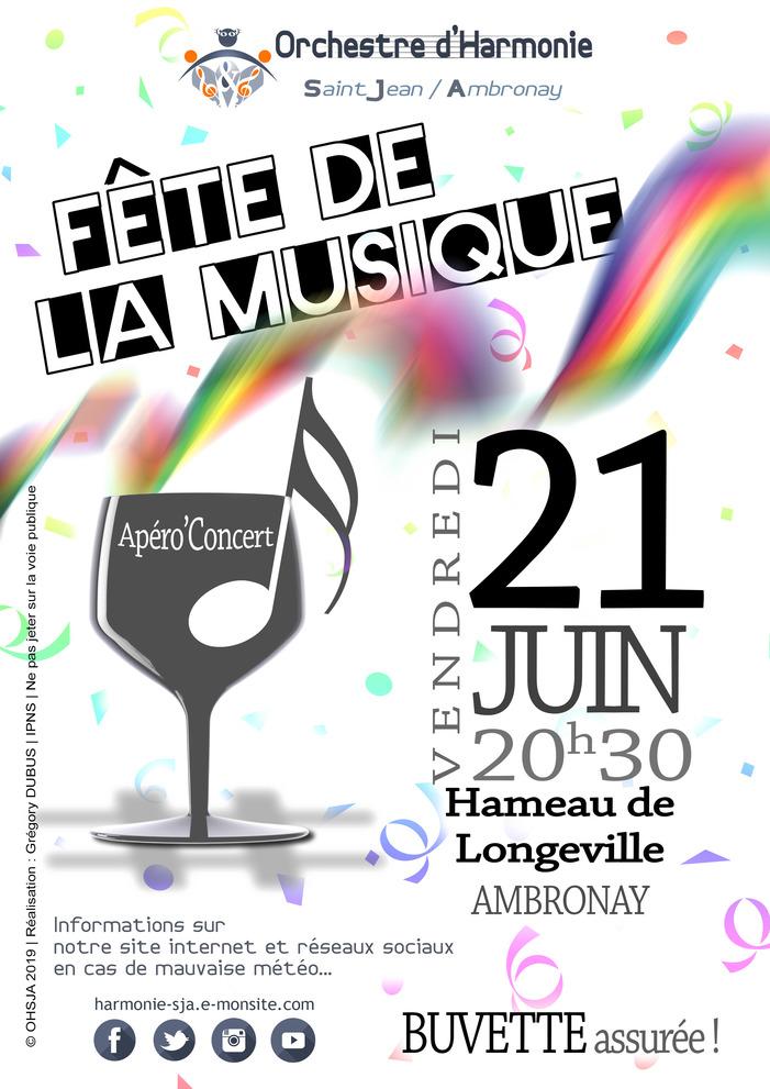Fête de la musique 2019 - L'Orchestre d'Harmonie St Jean / Ambronay (OHSJA)
