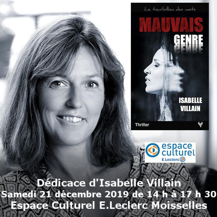 Dédicace Isabelle Villain E.Leclerc Moisselles 21 décembre