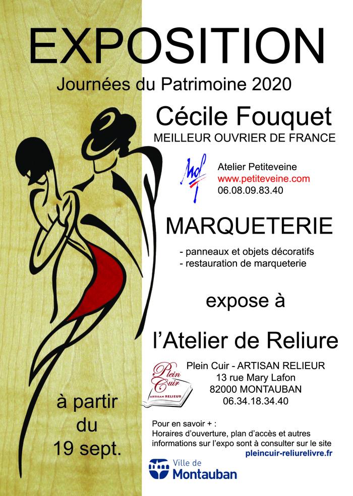 Journées du patrimoine 2020 - Exposition d'oeuvres en marqueterie par Cécile Fouquet, Meilleur Ouvrier de France