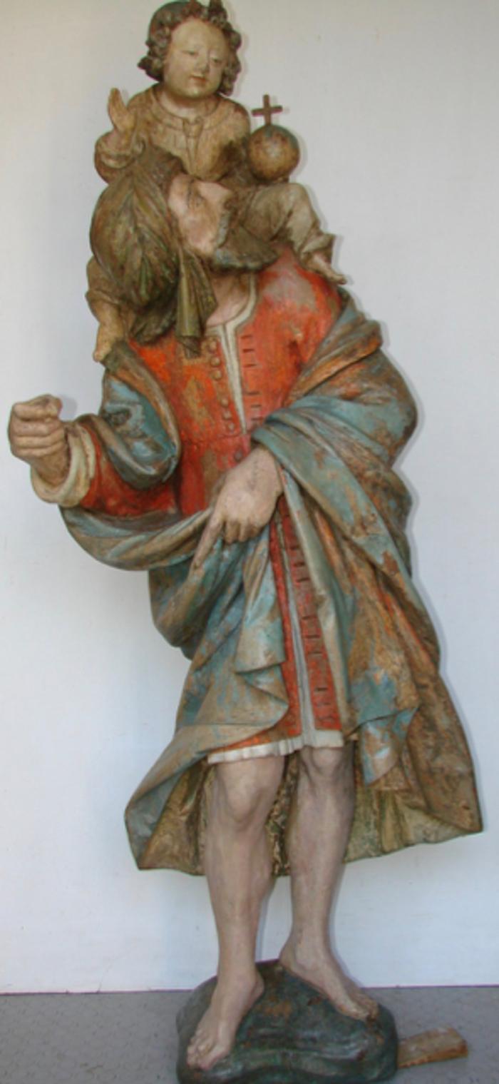 Journées du patrimoine 2020 - Présentation de la sculpture de saint Christophe