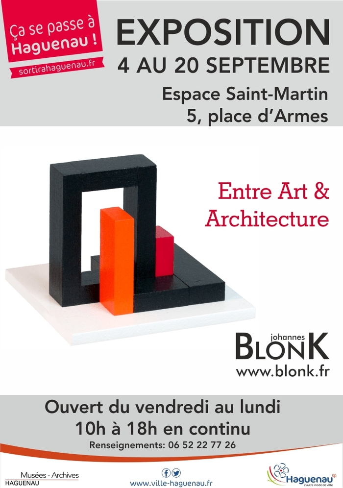 Journées du patrimoine 2020 - Visite de l'exposition « Entre Art et Architecture » de Johannes BlonK.