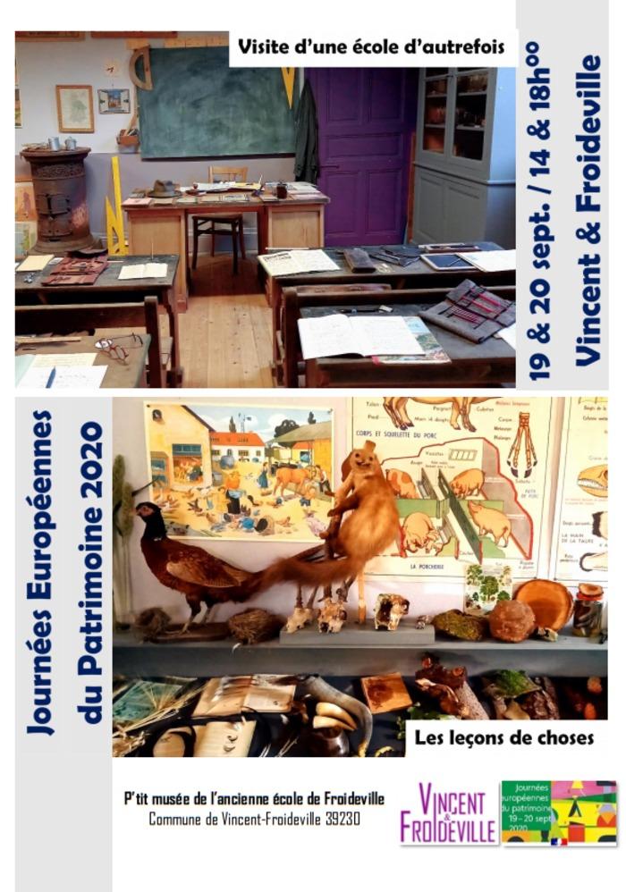 Journées du patrimoine 2020 - Visite de l'ancienne école communale de Froideville