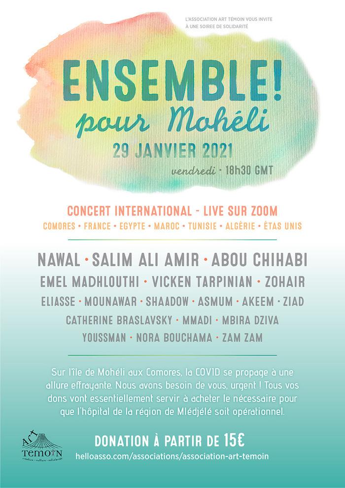 ENSEMBLE POUR MOHELI - Concert international sur ZOOM
