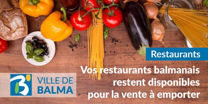 Liste de vos restaurants ouverts à emporter