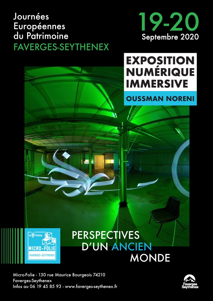 Journées du patrimoine 2020 - Exposition numérique immersive de lightpainting