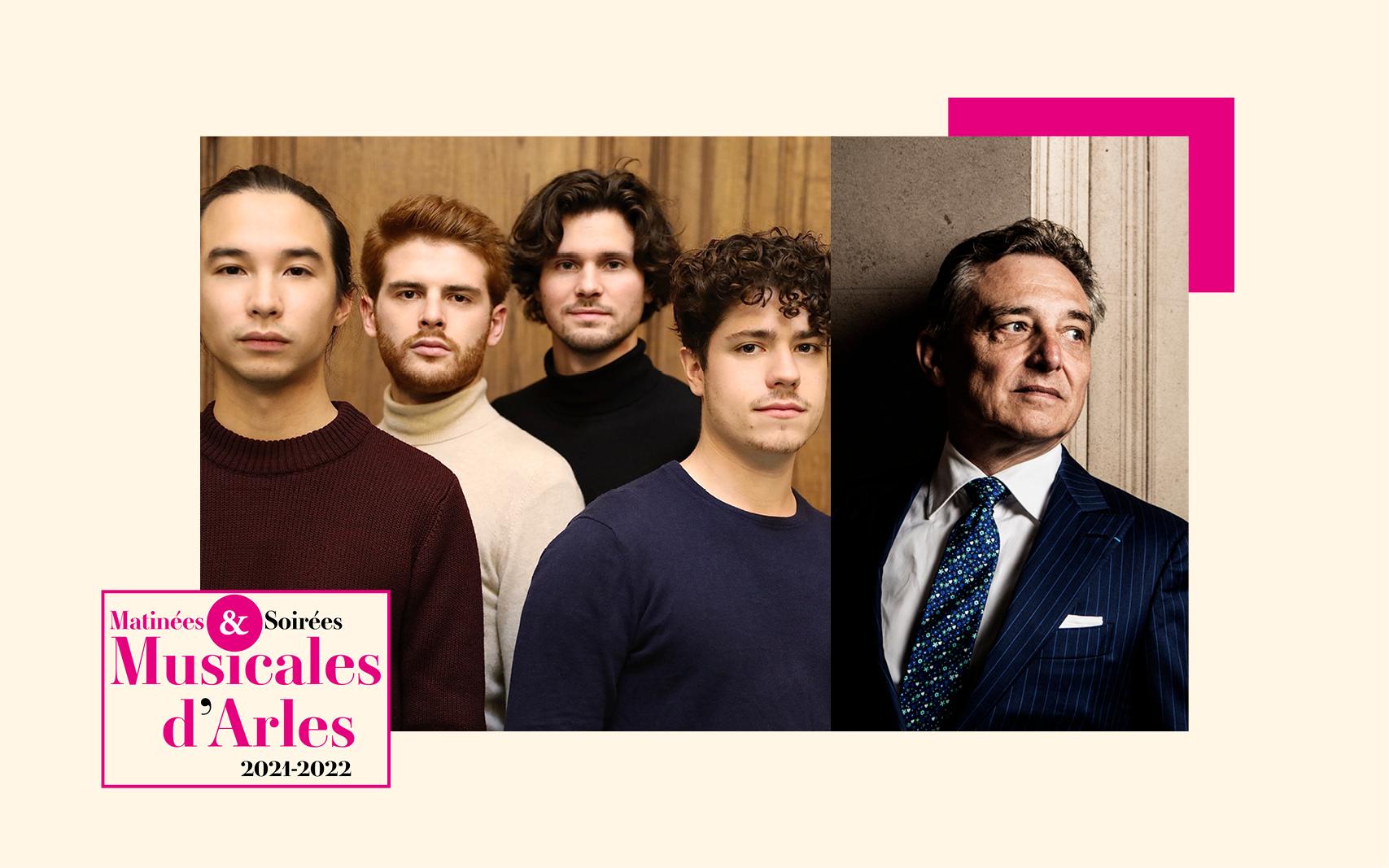 La formation prometteuse, le Quatuor Elmire, est accompagnée au piano par le maître Michel Dalberto qui met à profit toute son expérience pour ses jeunes camarades.