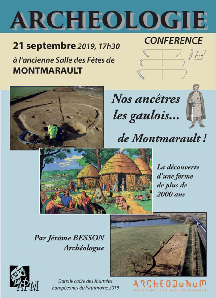 Journées du patrimoine 2019 - Conférence sur le site archéologique de Maselier à Montmarault