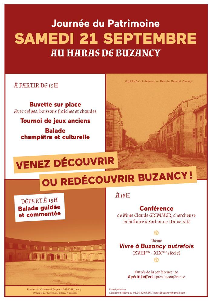 Journées du patrimoine 2019 - Venez découvrir ou redécouvir Buzancy