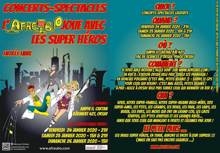 Concerts-Spectacles, l'AFREUBO joue avec les super héros