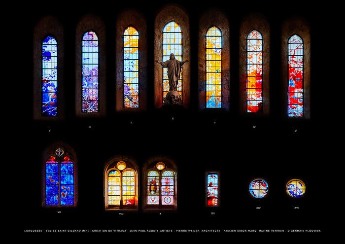 Journées du patrimoine 2019 - Visite guidée de l'église Saint-Gildard-de-Longuesse et de ses nouveaux vitraux