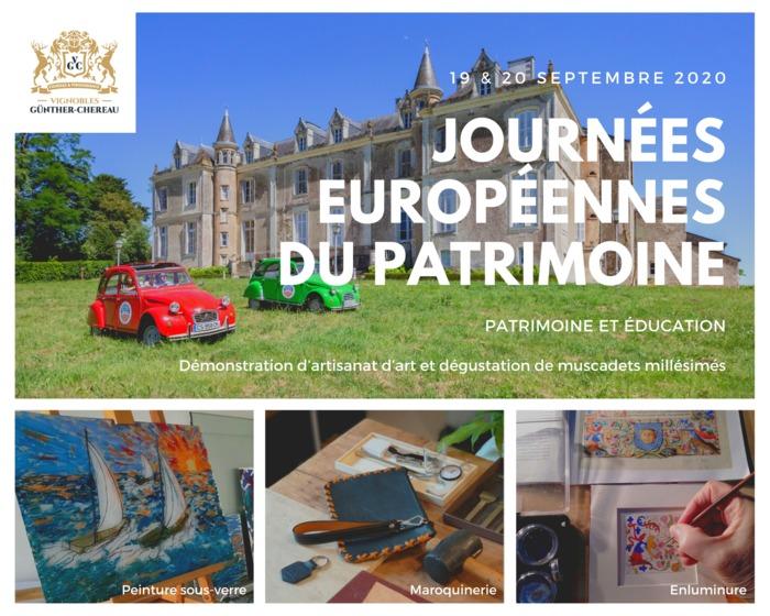 Journées du patrimoine 2020 - Château du Coing : Démonstration d'artisanat d'art et dégustation de muscadets millésimés