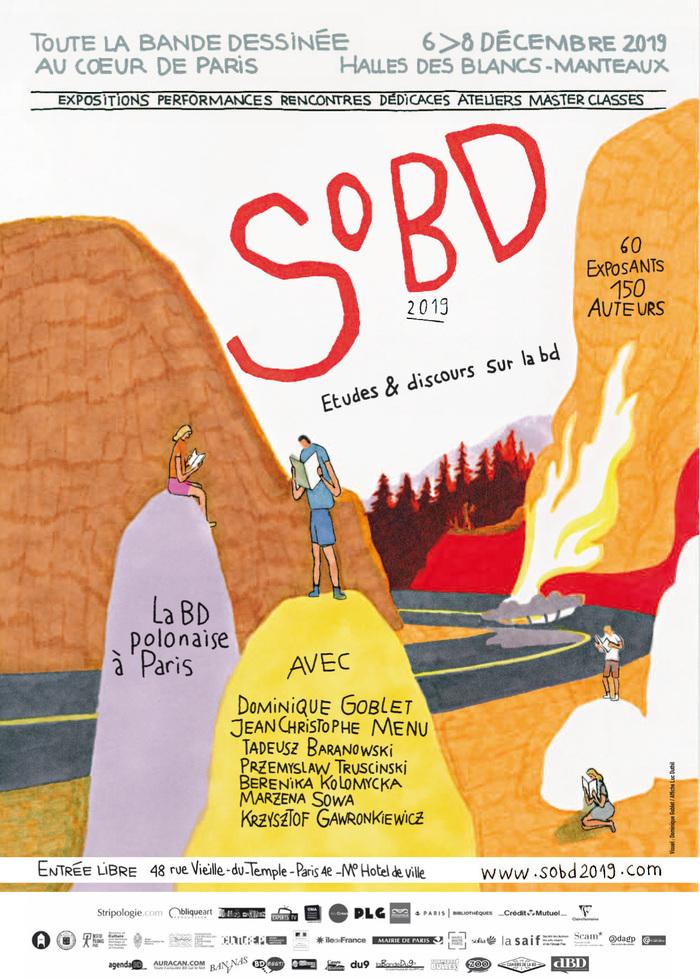 Le Salon de la Bande Dessinée au cœur de Paris, le SoBD, tiendra sa 9e édition les 6, 7 et 8 décembre 2019, à la Halle des Blancs Manteaux, à proximité de l'Hôtel de Ville de Paris. Accès gratuit.