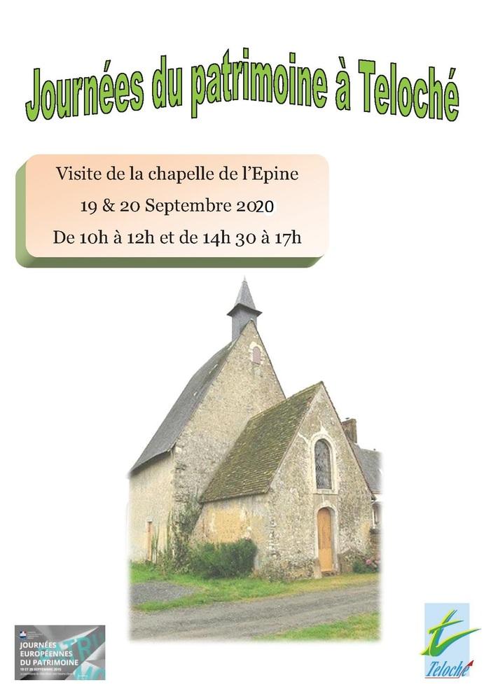 Journées du patrimoine 2020 - Visite guidée de la chapelle Notre Dame de l'Epine