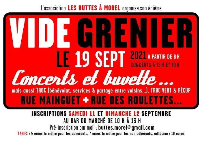 Vide Grenier des Buttes à Morel dimanche 19 sept.