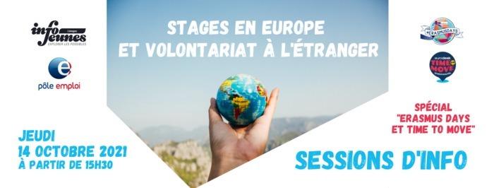 "Sessions d'information ""Stages en Europe hors formation et Volontariat à l'international"""